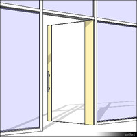 CurtWall-Door-Swing11-00490se