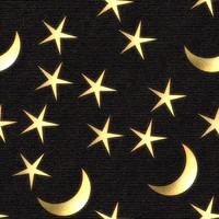 Space 032 - Star & Moon Fabric