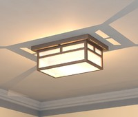 Mission Style Ceiling Light