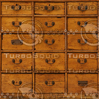 Tileable old wooden drawers