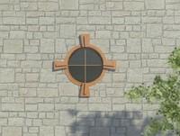 Oval Window With Keystone