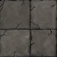 Rock Floor Tiles Handpainted