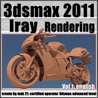 3dsmax 2011 Iray Rendering vol 1 English cd front