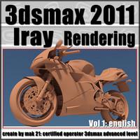 3dsmax 2011 Iray Rendering vol 1 English cd front