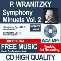 P. WRANITZKY - Symphony Minuets Vol. 2