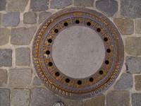 Old german man hole cover