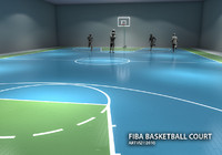 FIBA Basketball Court Texture