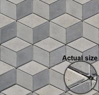 Cubes pavement