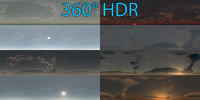 8 full spherical HDR skyboxes