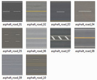 Asphalt road pack