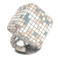 Pastel mosaic tiles