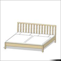 Bed Wood 00140se