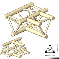 Truss 33 Corner 3-way T hori 00198se