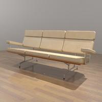 Eames Sofa - 3 Seat