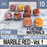 Marble Red Vol. 1 - Textures & Materials
