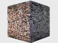 Seamless high-rez Free-stacked Stone wall with normals and specular
