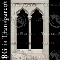 Gothic Window 3, Transparent BG