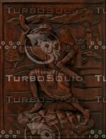 Carved Hunter Panel