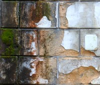 Old Cement Block Wall  25