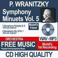 P. WRANITZKY - Symphony Minuets Vol. 5