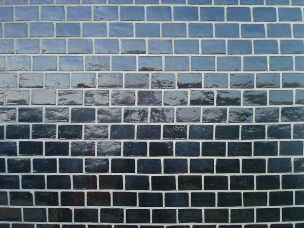 Texture jpg black glossy brick