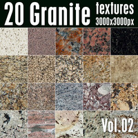 20 High Res Seamless Granite Textures Vol.02