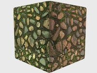 Seamless Hi-rez Mossy Cobblestones with normals and specular