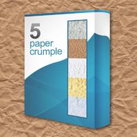 5 Paper Crumple Textures