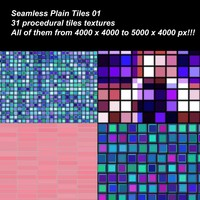 31 High definition procedural simple tiles textures.