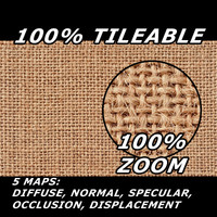 Fabric Jute Tileable Texture