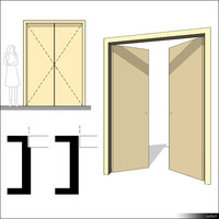 Door Swing Double 00222se
