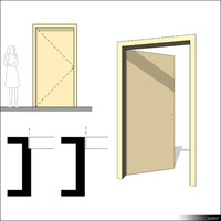 Door Swing Single 00223se
