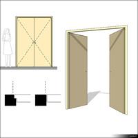 Door Swing Double 00225se