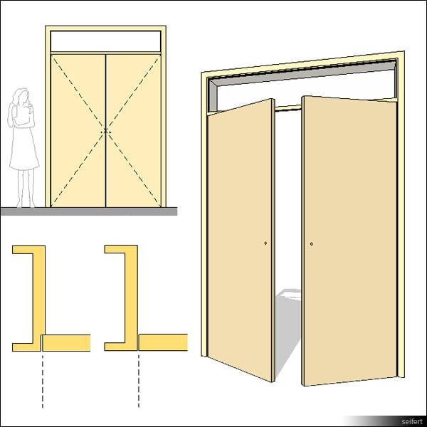 Wood Door Elevation : Building rfa door swing double
