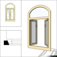 Window Case Double Trans Arc 00238se