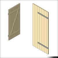 Door Leaf Ledge Brace 00267se