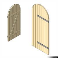 Door Leaf Arc Ledge Brace 00268se