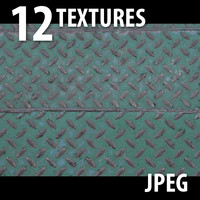 12 Textures (Bricks, Metal, Sand, Wall, Paint)