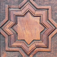 Carved Wood Medallion
