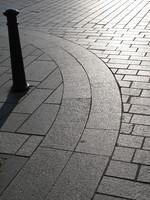 Granite curved paving