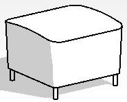 Ikea Flippan Footstool
