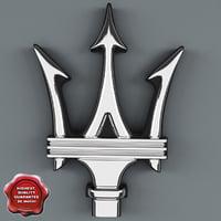 maserati logo 3d max