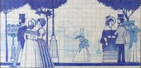 Painted Tile Mural 01