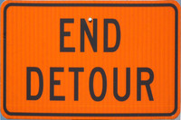 Los Angeles End Detour sign