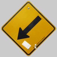 Los Angeles Traffic Sign arrow yellow