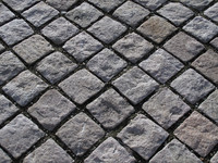 Granite setts detail