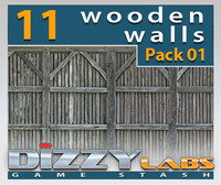 DLWOOD ArchitecturalParts Wall Pack 01
