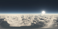 high resolution 360° sky
