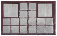 Old factory wood window