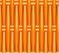 Plastic Wicker orange